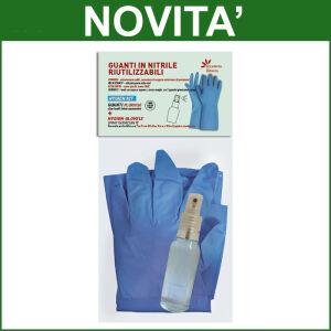 Guanti in Nitrile Riutilizzabili Hygien Kit Taglia L